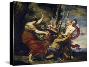 Time Vanquished by Hope, Love and Beauty, 1627 by Simon Vouet