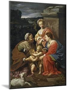Virgin and Child with John the Baptist as a Boy, Saint Elizabeth and Saint Catherine, 1625-1626 by Simon Vouet