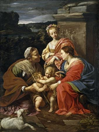 Virgin and Child with Saint Elisabeth,the infant Saint John and Saint Catherine1624-26French Schoo
