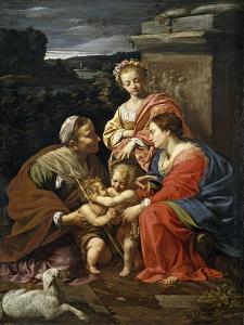 Virgin and Child with Saint Elisabeth,the infant Saint John and Saint Catherine1624-26French Schoo by Simon Vouet