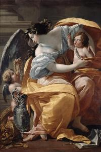Wealth, 1640 by Simon Vouet