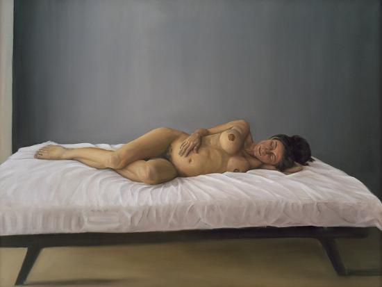 Simona Pregnant Lying Down, 2007-Peter Breeden-Giclee Print
