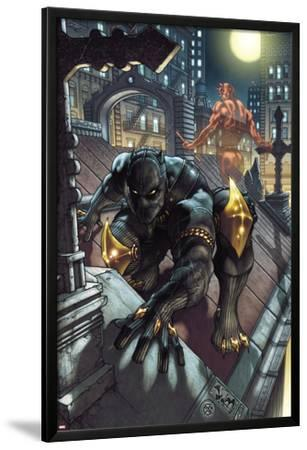 Black Panther: The Man Without Fear No.513 Cover: Black Panther and Daredevil Crouching