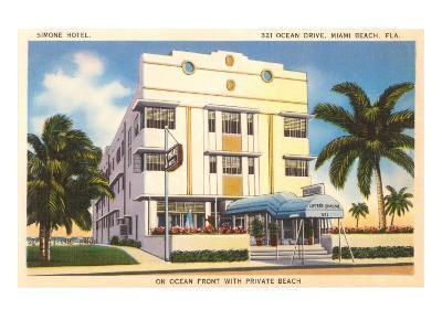Simone Hotel, Miami Beach, Florida--Art Print