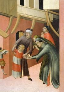 Altarpiece Entitled Blessed Agostino Novello and Stories of His Life by Simone Martini