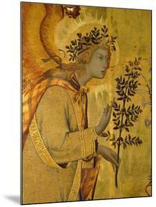Annunciation, Detail of Gabriel by Simone Martini