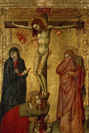 Christ on the Cross with Mary, John and Magdalena