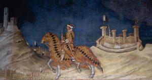 Commemoration of Guidoriccio Da Fogliano at the Siege of Montemassi by Simone Martini