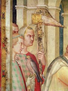 Detail of a Falconer from the Life of St. Martin, C.1326 by Simone Martini
