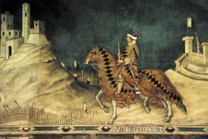 Equestrian Portrait of Guidoriccio Da Fogliano by Simone Martini