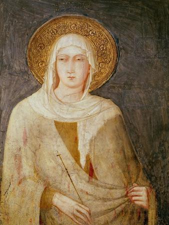 Five Saints, Detail of St. Clare