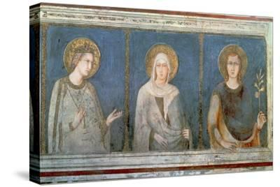 Five Saints, Detail of St. Elisabeth of Hungary, St. Clare and Another Saint