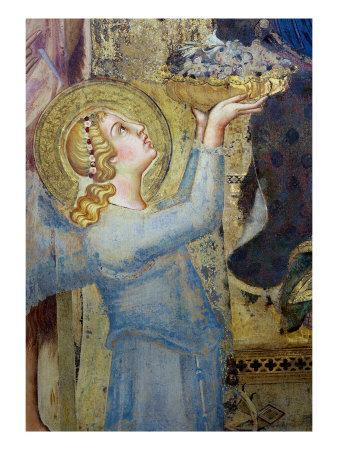 Maesta: Angel Offering Flowers to the Virgin, 1315