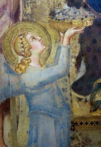 Maesta: Angel Offering Flowers to the Virgin, 1315 by Simone Martini