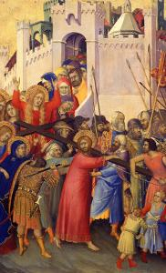 Orsini Polyptych: Road to Calvary by Simone Martini