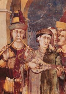 St. Martin Receives the Investiture as Knight by Emperor Julian by Simone Martini