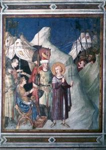 'St Martin Renounces his Weapons', 1312-1317.  Artist: Simone Martini by Simone Martini