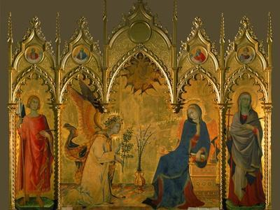 The Annunciation, Saints Asano and Margaret, Prophets Jeremiah, Ezechiel, Isaiah, and Daniel