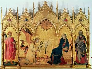 The Annunciation with St. Margaret and St. Asano, 1333 by Simone Martini