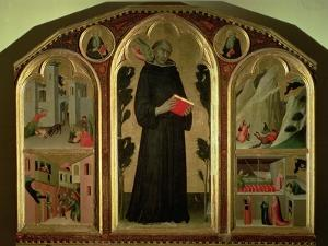 The Blessed Agostino Novello Altarpiece, with four of his miracles, c.1328 by Simone Martini