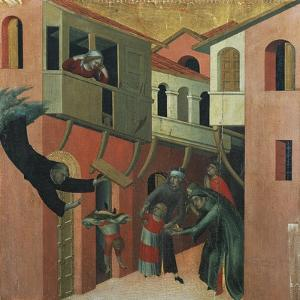The Miracle of the Baby Who Fell from the Balcony by Simone Martini