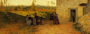 The Visit to the Villa by Simone Martini