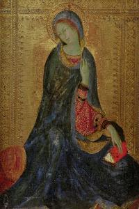 Virgin Annunciate, Right Hand Panel of Diptych, 1340-44 by Simone Martini