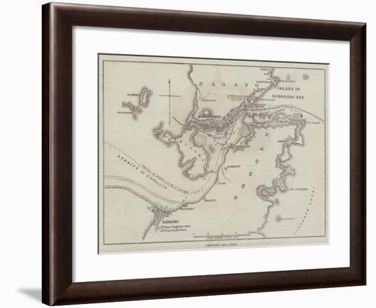 Simonoseki Bay, Japan-John Dower-Framed Giclee Print
