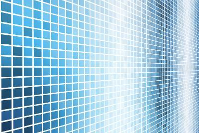 Simple And Clean Background Abstract In Grid-kentoh-Art Print