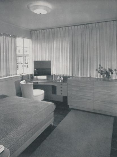 'Simple and practical lines characterise this bedroom', 1942-Unknown-Photographic Print