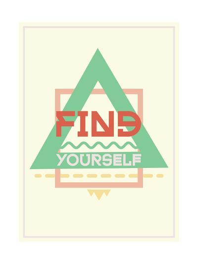 Simple and Strong Motivational Poster-Vanzyst-Art Print