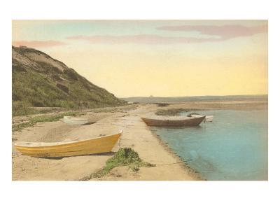Simple Boats by Shore--Art Print