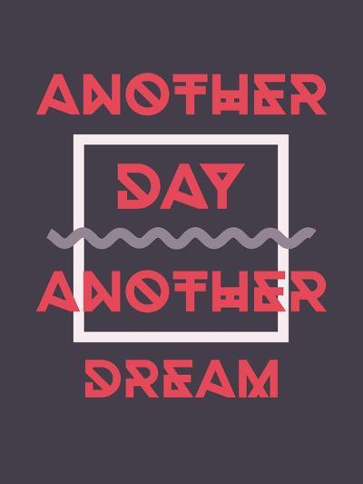Simple Geometric Motivational Poster-Vanzyst-Art Print