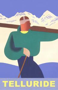 Simple Graphic Skier at Telluride, Colorado