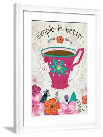 Simple Is Better-ND Art-Framed Art Print