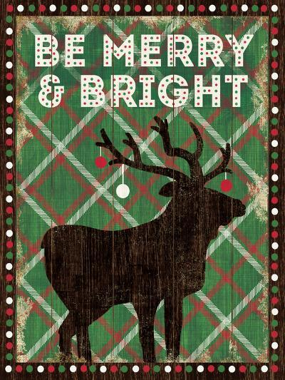 Simple Living Holiday Be Merry-Michael Mullan-Art Print
