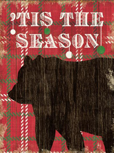 Simple Living Holiday Bear-Michael Mullan-Art Print