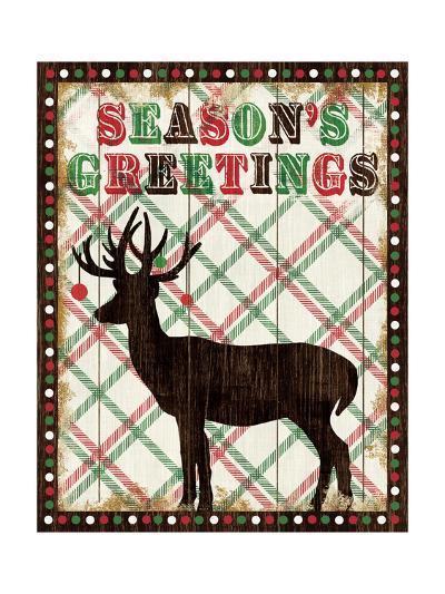 Simple Living Holiday Seasons Greetings-Michael Mullan-Art Print