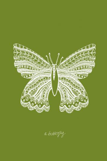 Simple Nature - Butterfly-Clara Wells-Giclee Print