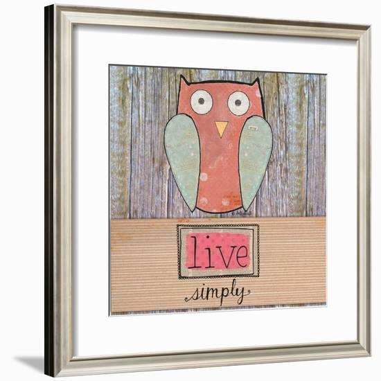 Simple Owl Square-Katie Doucette-Framed Premium Giclee Print