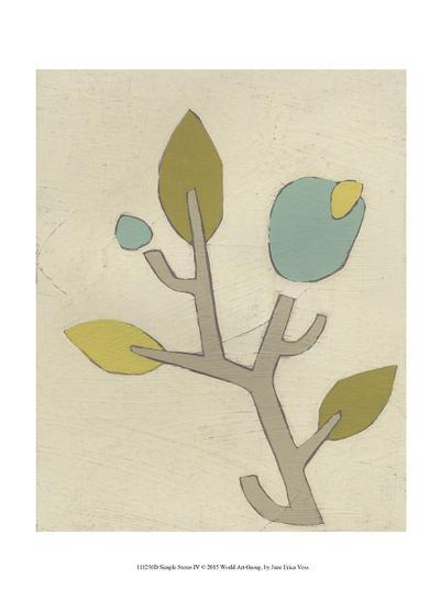 Simple Stems IV-June Erica Vess-Art Print