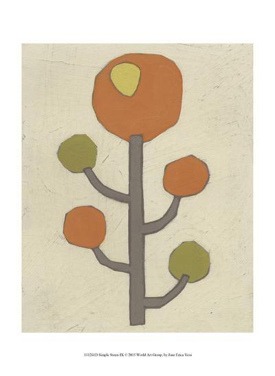 Simple Stems IX-June Erica Vess-Art Print