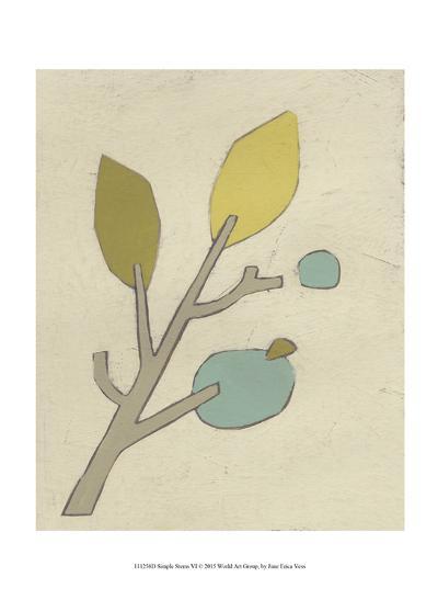 Simple Stems VI-June Erica Vess-Art Print
