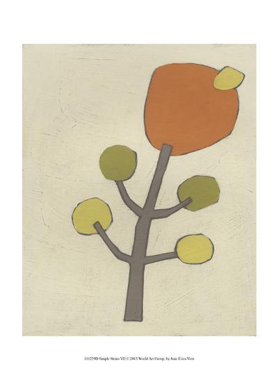 Simple Stems VII-June Erica Vess-Art Print