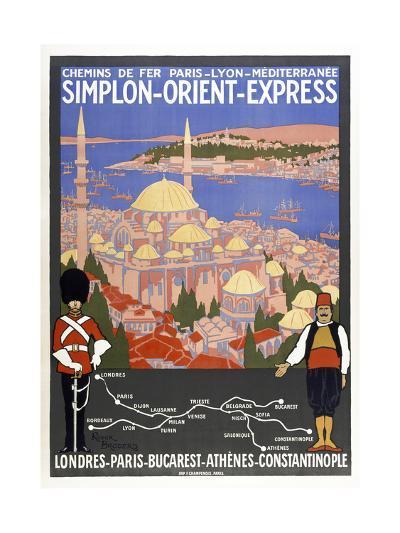 Simplon-Orient-Express-Marcus Jules-Giclee Print