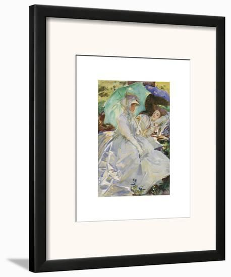 Simplon Pass: Reading, about 1911-John Singer Sargent-Framed Art Print