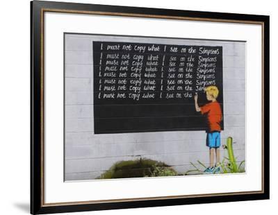 Simpsons-Banksy-Framed Giclee Print