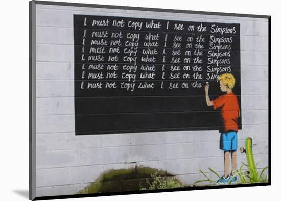 Simpsons-Banksy-Mounted Giclee Print