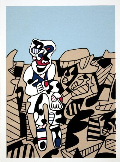 Simulacres-Jean Dubuffet-Serigraph