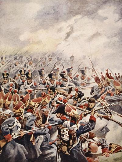 Simultaneously Followed the Levelled Bayonets of Suchet's Division--Giclee Print